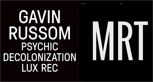 Gavin Russom / Bruno Belluomini :: Double review (Lux Rec./MRT)